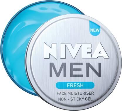 NIVEA Men Fresh Face Moisturizer Gel, Non Sticky & Light Moisturization