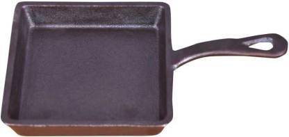 Rock Tawa Square Frying PAN 5.50 in Pre-Seasoned Cast Iron Skillet Fry Pan 29 cm diameter