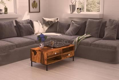 Flipkart Perfect Homes Sheesham Wood Solid Wood Coffee Table