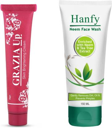 GRAZIA UP Cream With Hanfy Neem -Soap - No Parabens, Silicones & Mineral Oil (150mL) Face Wash