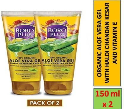 BOROPLUS ALOE VERA GEL FOR BODY AND FACE (150 ml X 2N)