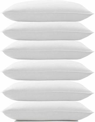 ComfoBuddy Luxury white soft pillow Microfibre Solid Sleeping Pillow Pack of 6