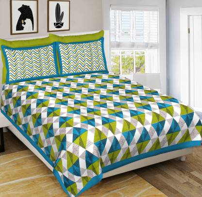 MSKS 144 TC Cotton Double Geometric Bedsheet