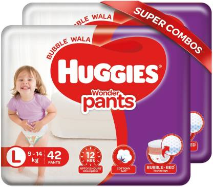 Huggies Wonder Pants Combo Pack with Bubble Bed Technology - L