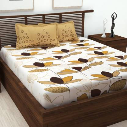 Story@home 152 TC Cotton Double Abstract Bedsheet