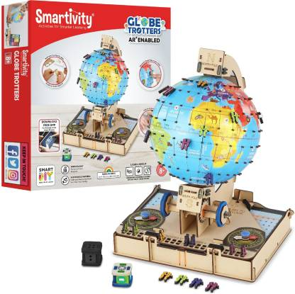 Smartivity GLOBE Trotters Augmented Reality STEM Educational DIY Construction Toy Kit Easy Instructions Experiment Play Learn Science 8+Yrs Free App