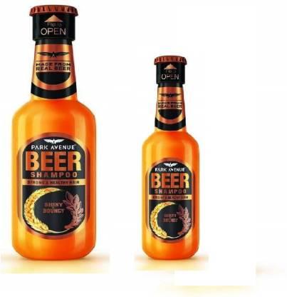 PARK AVENUE Beer Shiny Bouncy Shampoo 350 ml and 180ml combo