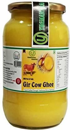 YUGMANTRA ORGANIC Pure Desi A2 Gir Cow Ghee ( 1000 ml ) 1000 ml Glass Bottle