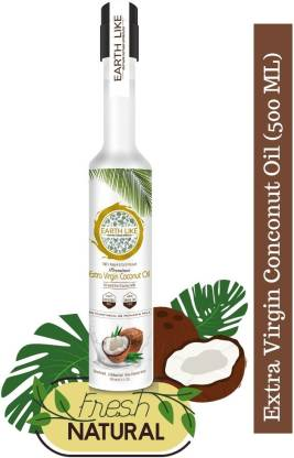 Earth Like Organics EARTH LIKE Extra Virgin Coconut Oil 500 ml Coconut Oil Plastic Bottle