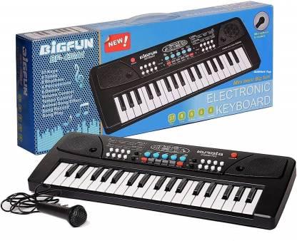 BIGFUN 37 Key Piano Keybt For Kids(Black)