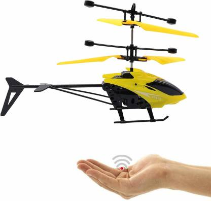 Tee Turtle Kids Plastic Induction Type 2-in-1 Flying Indoor Remote Control & Rechargeable Flying Unbreakable Helicopter Toys for Kids(Multicolor)
