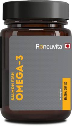 RONCUVITA Salmon Omega 3 Fish Oil 1000mg, Brain and Joint Health - 60 Soft gels
