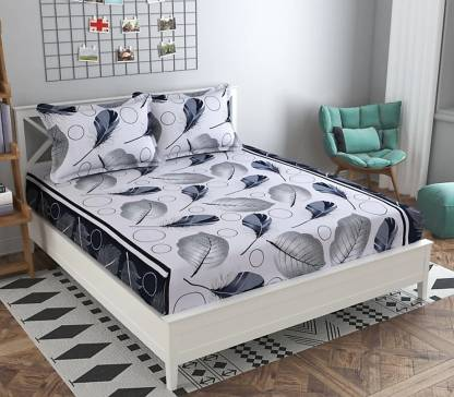 H18 SHEET 160 TC Microfiber Double Printed Bedsheet