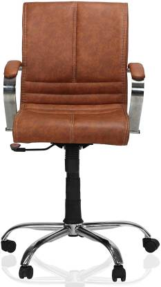 GREEN SOUL Verona Mid Back Office Chair (Tan) Leatherette Office Executive Chair