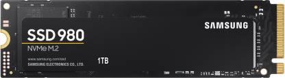 SAMSUNG 980 1 TB Laptop, Desktop Internal Solid State Drive (MZ-V8V1T0BW)