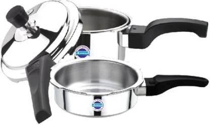 Amul Amul Tri Ply 5 Ltr Combi Pressure Cooker (Non Induction) 5 L Pressure Cooker