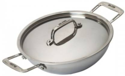 Amul Amul Tri Ply Cookware Kadai 18 CM With Lid (Non Induction) 0.018 L Pressure Pan
