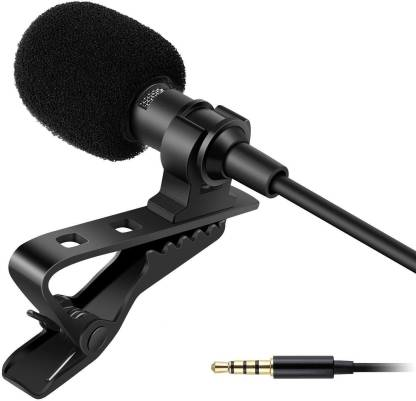 LKDS Collar Clip Microphone Omnidirectional Mic with Easy Clip On System Perfect for Recording Youtube/Interview/Video Conference/Podcast/iPhone/Android CLIP