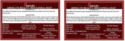 Absolute Beauty Red Sandal Handmade Soap 2