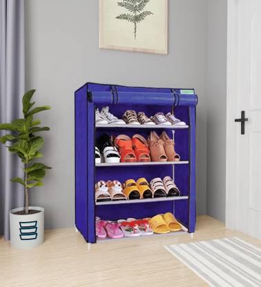 FLIPZON Premium 4-Tiers Shoe Rack/Multipurpose Storage Rack Metal Shoe Stand