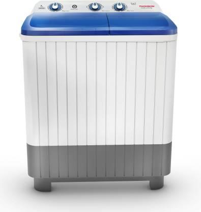 Thomson 7 kg Semi Automatic Top Load White, Blue, Grey