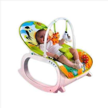 Guru Kripa Baby Products Baby Bouncers and Jumpers Swings 2 In 1 New-born To Toddler Portable Rocker Baby Vibration and Baby Bouncer for Infants 0-36 Months Blue Rocker and Bouncer