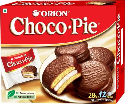 ORION Choco Pie Chocolate Coated Soft Biscuit