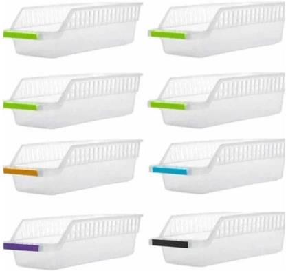 Flipkart SmartBuy Plastic Fridge Space Saver Food Storage Organizer Basket Rack, Multi-Color Fruits/Vegetables Kitchen Rack