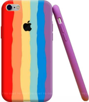 COST TO COST Back Cover for Apple iPhone 6s Rainbow Silicon Cover ...