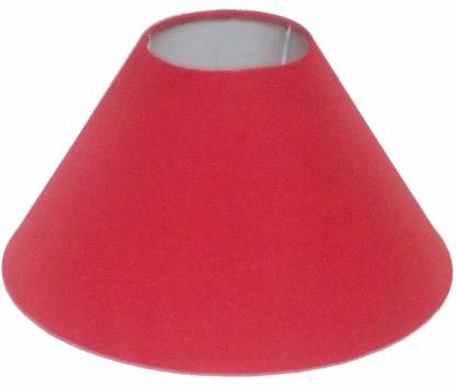 Candela Round Plain Red Lamp Shade For, Round Lamp Shades Table Lamps