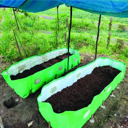 V.K. Vermibed 12*4*2 Ft. VermiCompost 7 Layer HDPE Laminated, ISI 340 GSM Grow Bag