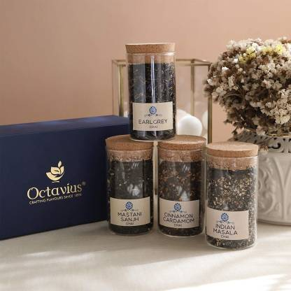 Octavius Tea Time Treasure Assorted Tea Blend Festive Gift Box