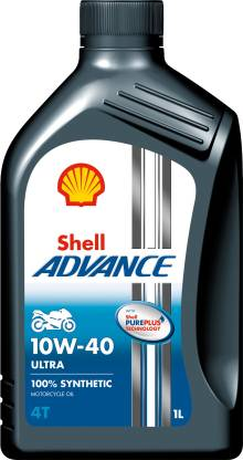 Shell Advance Ultra 4T 10W-40 API SN Full-Synthetic Engine Oil