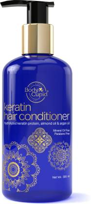 Body Cupid Keratin Hair Conditioner with Hydrolyzed Keratin Protein,Coconut Oil and Argan Oil - 300 mL