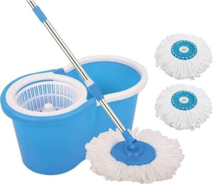 Ketsaal Spin Bucket Mop With 2 Refills (Color May Vary As Per Availability) Mop