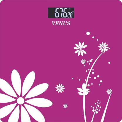 Venus Digital Electronic LCD Glass Fitness/Health Checkup Weighing Scale