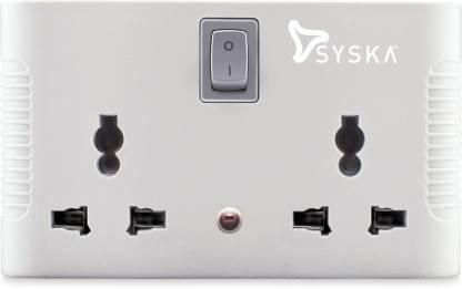Syska SSK-MPS-0401 6 A Three Pin Socket
