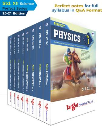 Std 12 Books - Physics, Chemistry, Maths And Biology   PCMB   Science   Perfect Notes   HSC Maharashtra State Board   Based On The Std 12th New Syllabus Of 2020 - 2021   Set Of 8 Books