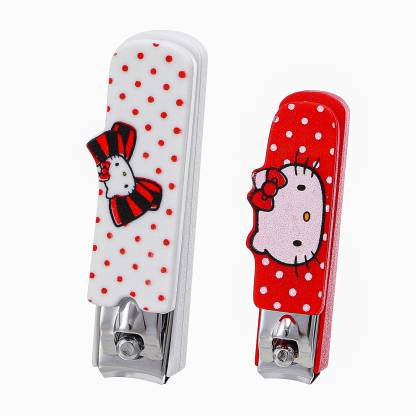 Miniso Sanrio Hello Kitty Nail Clippers With Curved Blade Sharp Stainless Steel For Thick Fingernails And Toenails Manicure Set 2 Pcs Price In India Buy Miniso Sanrio Hello Kitty Nail Clippers