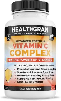 HEALTHGRAM Advance Formula Vitamin C Complex 10X Power Of Vitamin C With Zinc, Amla Extract