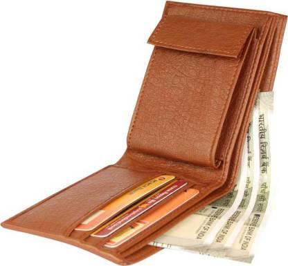 Uzfar Men Casual Tan Artificial Leather Wallet