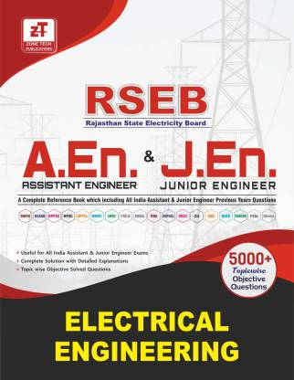 RSEB AE/JE : ELECTRICAL ENGINEERING Topic Wise MCQ's Practice Book including all India Assistant & Junior Engineer Previous Papers