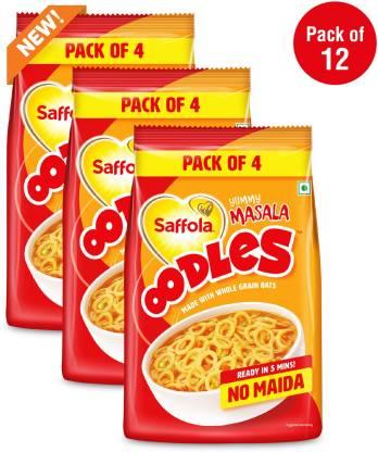 Saffola Oodles Yummy Masala, No Maida, Saver Pack Instant Noodles Vegetarian