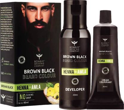BOMBAY SHAVING COMPANY Beard Color For Men Black (Brown), Ammonia & Sulphate Free