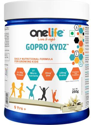 OneLife GOPRO KYDZ Vanilla [Daily Nutrition for Growing Kids] Energy Drink