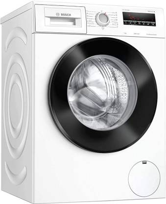 BOSCH 7 kg Fully Automatic Front Load with In-built Heater White