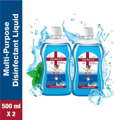 Tri-Activ Disinfectant Liquid for Multipurpose use for Personal Hygiene and Home Cleaning 500ml Cool Menthol