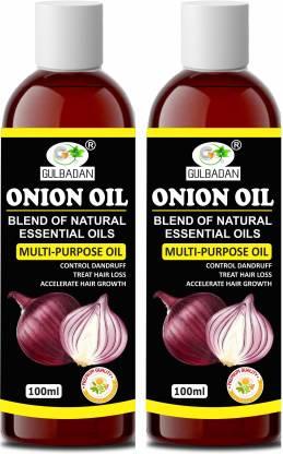 GULBADAN Onion Hair Oil for Hair Growth with Onion & Black Seed for Hair Fall Control Hair Oil