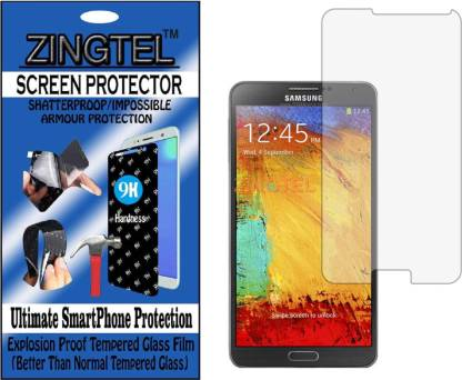 ZINGTEL Tempered Glass Guard for SAMSUNG GALAXY NOTE 3 N9000 (Flexible, Unbreakable)