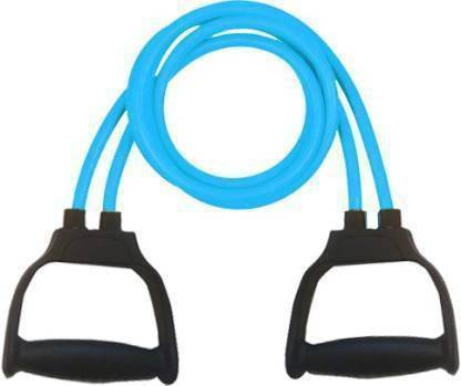 awarefit Double Resistance Bands Toning Tube Exerciser with D Handle (Multicolor) Resistance Tube